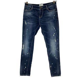 BKE Stella Ankle Skinny Bleached Jeans